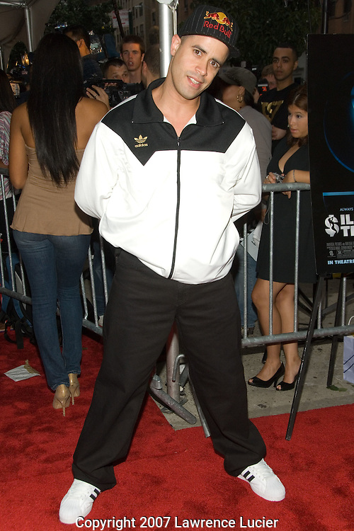"""NEW YORK - AUGUST 20:  Recording artist Crazy Legs arrives at the premiere of """"Illegal Tender"""" August 20, 2007, at Chelsea West Cinemas in New York City.  (Photo by Lawrence Lucier)"""