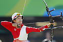 Kaori Kawanaka (JPN),<br /> AUGUST 7 2016 - Archery : <br /> Women's teaml final Round <br /> at Sambodromo <br /> during the Rio 2016 Olympic Games in Rio de Janeiro, Brazil. <br /> (Photo by Yusuke Nakanishi/AFLO SPORT)