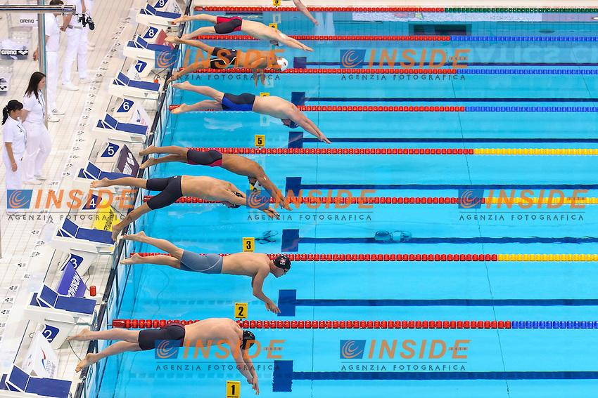 START <br /> 200m Butterfly Men <br /> London, Queen Elizabeth II Olympic Park Pool <br /> LEN 2016 European Aquatics Elite Championships <br /> Swimming<br /> Day 10 18-05-2016<br /> Photo Andrea Staccioli/Deepbluemedia/Insidefoto