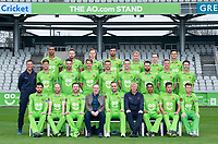 Picture By Allan McKenzie/SWpix.com - 11/04/18 - Cricket - Lancashire County Cricket Club Photo Call Media Day 2018 - Emirates Old Trafford, Manchester, England - Lancashire County Cricket Club Team Photo 2018 with AO.com.