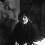 Poet, Heathcote Williams, at his home in Oxford