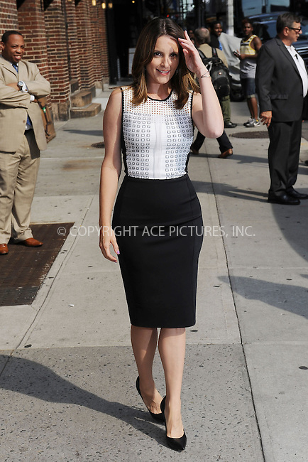 WWW.ACEPIXS.COM . . . . . <br /> August 21, 2013 New York City<br /> <br /> Tina Fey leaving a taping of an appearance on the Late Show with David Letterman on August 21, 2013  in New York City.<br /> <br /> Please byline: Kristin Callahan  <br /> <br /> ACEPIXS.COM<br /> Ace Pictures, Inc: ..tel: (212) 243 8787 or (646) 769 0430..e-mail: info@acepixs.com..web: http://www.acepixs.com