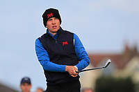 Euan Walker (GB&I) on the 2nd tee during the Foursomes at the Walker Cup, Royal Liverpool Golf CLub, Hoylake, Cheshire, England. 07/09/2019.<br /> Picture Thos Caffrey / Golffile.ie<br /> <br /> All photo usage must carry mandatory copyright credit (© Golffile | Thos Caffrey)