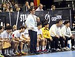 10.01.2019, Mercedes Benz Arena, Berlin, GER, Handball WM 2019, Deutschland vs. Korea, im Bild <br /> Head Coach Young Shin Cho (Korea), Spielerbank<br /> <br />      <br /> Foto © nordphoto / Engler