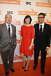 Carrie Brownstein, Lorne Michaels (producer Sat. Night Live, 30 Rock, Up All Night, Portlandia) and Fred Armisen attend the Portlandia Season 2 Premiere Screening on January 5, 2012 at the American Museum of Natural History, New York City, New York. (Photo by Sue Coflin/Max Photos)