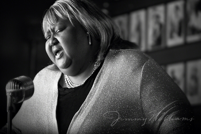 Blues singer Sweet Betty sings the blues in Blind Willie's, an Atlanta bar.