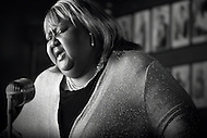 Blues singer Sweet Betty sings the blues in Blind Willie's, an Atlanta bar.