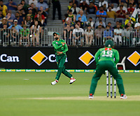 8th November 2019; Optus Stadium, Perth, Western Australia Australia; T20 Cricket, Australia versus Pakistan; Babar Azam of Pakistan throws the ball back from the infield - Editorial Use
