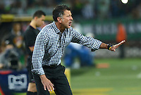 MEDELLIN - COLOMBIA -15 -03-2015:Juan C Osorio, tecnico de Atletico Nacional, durante partido entre Atletico Nacional y Deportivo Independiente Medellin por la fecha 10 la Liga Aguila I 2015, jugado en el estadio Atanasio Girardot de la ciudad de Medellin.  / Juan C Osorio coach of Atletico Nacional during a match for the date 10 between Atletico Nacional and Deportivo Independiente Medellin the Liga Aguila I 2015 at the Atanasio Girardot stadium in Medellin city. Photo: VizzorImage. / Leon Monsalve / Str.
