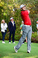 Jon Rahm (ESP) watches his tee shot on 17 during round 4 of the World Golf Championships, Mexico, Club De Golf Chapultepec, Mexico City, Mexico. 3/5/2017.<br /> Picture: Golffile | Ken Murray<br /> <br /> <br /> All photo usage must carry mandatory copyright credit (&copy; Golffile | Ken Murray)