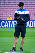 9th September 2017, Camp Nou, Barcelona, Spain; La Liga football, Barcelona versus Espanyol; Esteban Granero of RCD Espanyol inspects the surface before the derby match