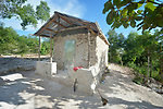 A new home in Picmy, a village on the Haitian island of La Gonave where Service Chrétien d'Haïti is working with survivors of Hurricane Matthew, which struck the region in 2016. A member of the ACT Alliance, SCH is helping families like this one repair or rebuild their homes while also jump-starting their agricultural production.