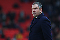 Swansea City manager Paul Clement during the Premier League match between Stoke City and Swansea City at the bet365 Stadium, Stoke on Trent, England, UK. Saturday 02 December 2017