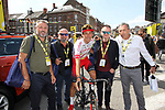 Stéphane Rossetto (FRA) Cofidis mingles with guests in the Tour Village before Stage 3 of the 2019 Tour de France running 215km from Binche, Belgium to Epernay, France. 8th July 2019.<br /> Picture: ASO/Olivier Chabe | Cyclefile<br /> All photos usage must carry mandatory copyright credit (© Cyclefile | ASO/Olivier Chabe)