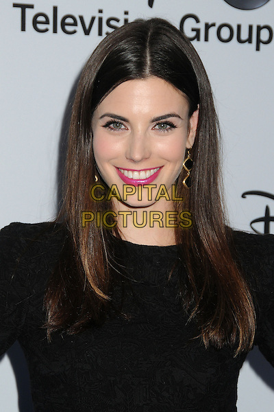 Meghan Ory.Disney Media Networks International Upfronts 2013 held at Walt Disney Studios, Burbank, California, USA..May 19th, 2013.headshot portrait pink lipstick black  .CAP/ADM/BP.©Byron Purvis/AdMedia/Capital Pictures