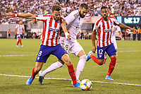 East Rutherford (EUA), 26/07/2019 - Amistoso Internacional / Real Madrid x Atlético de Madrid -  Benzema (C) do Real Madrid durante partida contra o Atlético de Madrid  durante partida pela International Champions Cup no MetLife Stadium em East Rutherford nos Estados Unidos na noite desta sexta-feira, 26. (Foto: William Volcov/Brazil Photo Press/Agencia O Globo) Esportes