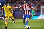 Filipe Luis of Atletico de Madrid battles for the ball with Aleksandr Erokhin of FC Rostov during their 2016-17 UEFA Champions League match between Atletico Madrid and FC Rostov at the Vicente Calderon Stadium on 01 November 2016 in Madrid, Spain. Photo by Diego Gonzalez Souto / Power Sport Images