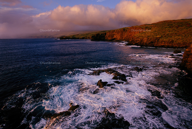 West coast of Lanai, Hawaii, a once private island full of pineapple plantations.