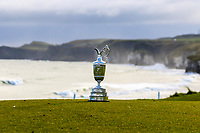 """The """"Claret Jug"""" beside the 5th green during the """"Media Open Day"""" for The Open 2019 at Royal Portrush Golf Club in Portrush, Co Antrim, Northern Ireland. <br /> Picture:  Thos Caffrey / www.golffile.ie"""