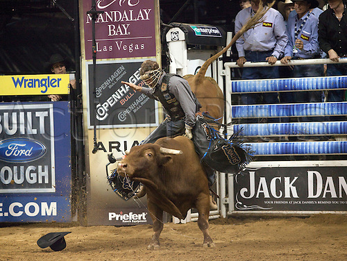 27th September 2009: Kasey Hayes rides Shotgun Willie during the PBR Dickies Invitational at the Citizens Business Bank Arena in Ontario, CA. (Photo by Paul Hebert/Actionplus). UK Licenses Only