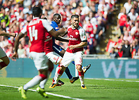 Arsenal Sead Kolasinac scoring during the The FA Community Shield Final match between Arsenal and Chelsea at Wembley Stadium, London, England on 6 August 2017. Photo by Andrew Aleksiejczuk / PRiME Media Images.