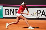 Spain tennis player Eva Guerrero Alvarez during Tennis Junior Fed Cup in Madrid, Spain. September 30, 2015. (ALTERPHOTOS/Victor Blanco)