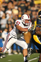 2 December 2006: Josh Catron during Stanford's 26-17 loss to Cal in the 109th Big Game at Memorial Stadium in Berkeley, CA.
