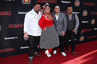 "HOLLYWOOD, LOS ANGELES, CA, USA - MARCH 20: La Santa Cecilia at the Los Angeles Premiere Of Pantelion Films And Participant Media's ""Cesar Chavez"" held at TCL Chinese Theatre on March 20, 2014 in Hollywood, Los Angeles, California, United States. (Photo by David Acosta/Celebrity Monitor)"