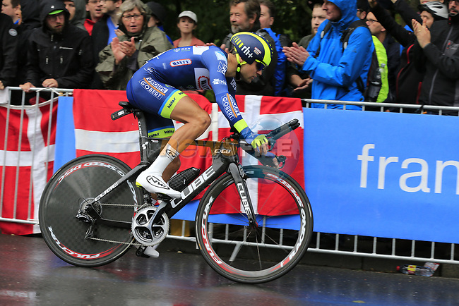 Marco Minnaard (NED) Wanty-Groupe Gobert in action during Stage 1, a 14km individual time trial around Dusseldorf, of the 104th edition of the Tour de France 2017, Dusseldorf, Germany. 1st July 2017.<br /> Picture: Eoin Clarke | Cyclefile<br /> <br /> <br /> All photos usage must carry mandatory copyright credit (&copy; Cyclefile | Eoin Clarke)