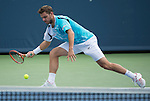 Stanislaus Wawrinka (SUI) takes the first set against Benjamin Becker (GER) 6-3