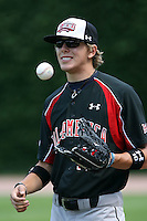 August 18 2008:  Jacob Morris (10) of the Baseball Factory team during the 2008 Under Armour All-American Game at Wrigley Field in Chicago, IL.  Photo by:  Mike Janes/Four Seam Images