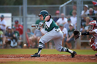 Michigan State Spartans designated hitter Marty Bechina (2) bunts during a game against the Illinois State Redbirds on March 8, 2016 at North Charlotte Regional Park in Port Charlotte, Florida.  Michigan State defeated Illinois State 15-0.  (Mike Janes/Four Seam Images)