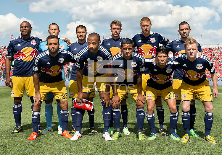 20 July 2013: The New York Red Bulls starting eleven during an MLS regular season game between the New York Red Bulls and Toronto FC at BMO Field in Toronto, Ontario Canada.<br /> The game ended in a 0-0 draw.