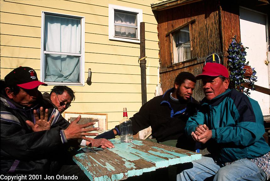 Homeless men in Flagstaff, Arizona<br />