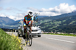 Awet Habtom Tekle (ERI) Men's Under-23 Individual Time Trial of the 2018 UCI Road World Championships running 20km around Innsbruck, Innsbruck-Tirol, Austria 2018. 24th September 2018.<br /> Picture: Innsbruck-Tirol 2018/Jan Hetfleisch | Cyclefile<br /> <br /> <br /> All photos usage must carry mandatory copyright credit (&copy; Cyclefile | Innsbruck-Tirol 2018/Jan Hetfleisch)