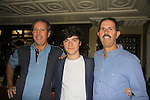 OLTL Eddie Alderson with dad Rich (R) and uncle Howard at SoapFest's Celebrity Weekend - Celebrity Karaoke Bar Bash - autographs, photos, live auction raising money for kids on November 10, 2012 at Bistro Soleil at Old Historic Marco  Island, Florida. (Photo by Sue Coflin/Max Photos)
