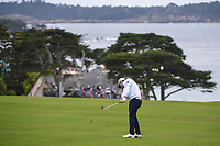 Nick Taylor (CAN) hits his approach shot on 11 during round 3 of the 2019 US Open, Pebble Beach Golf Links, Monterrey, California, USA. 6/15/2019.<br /> Picture: Golffile | Ken Murray<br /> <br /> All photo usage must carry mandatory copyright credit (© Golffile | Ken Murray)