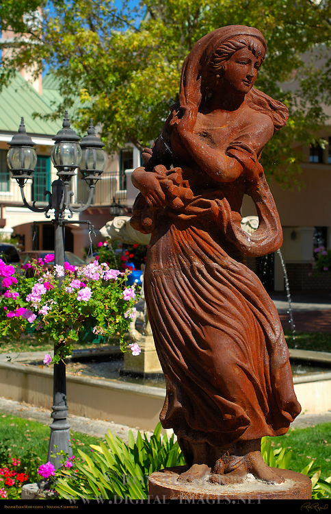 Danish Farm Maid statue, Solvang, California