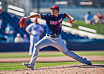 2 March 2019: Minnesota Twins top prospect pitcher Lewis Thorpe on the mound during a Spring Training game against the Washington Nationals at the Ballpark of the Palm Beaches in West Palm Beach, Florida. The Twins fell to the Nationals 10-6 in Grapefruit League play. Mandatory Credit: Ed Wolfstein Photo *** RAW (NEF) Image File Available ***