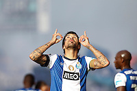Porto's Argentinian midfielder Lucho Gonzalez celebrates the goal of the match during the Zon Sagres League match between Paços Ferreira and FC Porto, at Mata Real Stadium in Paços de Ferreira on May 19, 2013 (Photo Credits: Paulo Oliveira/DPI) NortePhoto.com