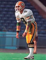 Hank Ilesec kicker Edmonton Eskimos. Photo Scott Grant