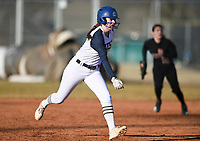 NWA Democrat-Gazette/CHARLIE KAIJO Bentonville West High School Allison Cowart (13) runs to third during a softball game, Thursday, March 13, 2019 at Bentonville West High School in Centerton.