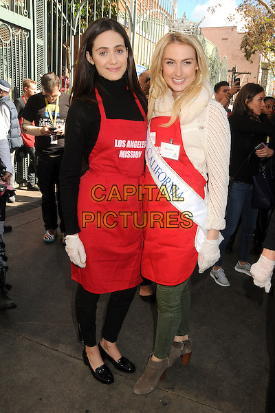 25 November 2015 - Los Angeles, California - Emmy Rossum, Bree Morse. 2015 Los Angeles Mission Thanksgiving Meal for the Homeless held at the LA Mission. <br /> CAP/ADM/BP<br /> &copy;BP/ADM/Capital Pictures