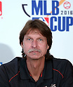 Randy Johnson, AUGUST 18, 2015 - Baseball : Randy Johnson, CEO of the Arizona Diamondbacks,  attends AIG Presents 'MLB CUP 2016' press conference at Tokyo Japan on 18 Aug 2015. The Little League Baseball tournament for Japanese 4th and 5th grade elementary school children is part sponsored by the MLB and the winning team will be invited to watch an MLB game.  (Photo by Motoo Naka/AFLO)