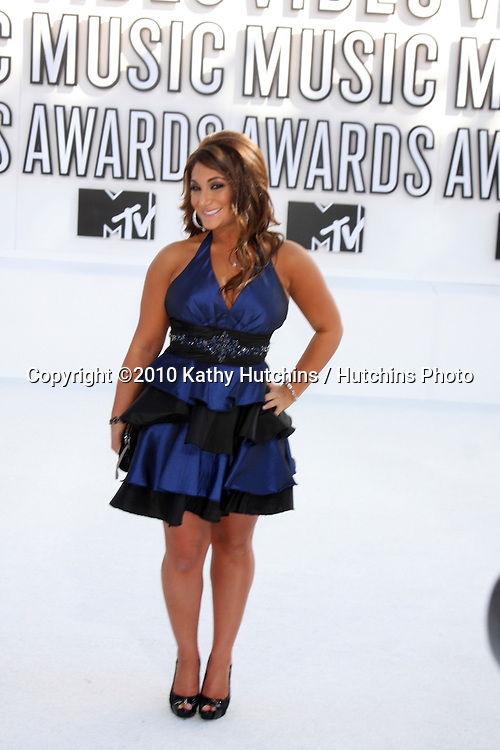 LOS ANGELES - SEP 12:  Deena Nicole Cortese arrives at the 2010 MTV Video Music Awards  at Nokia - LA Live on September 12, 2010 in Los Angeles, CA
