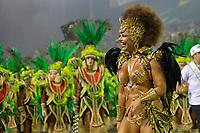 SÃO PAULO, SP, 09.03.2019 - CARNAVAL-SP - Viviane Araujo da escola de samba Mancha Verde durante Desfile das Campeãs do Carnaval de São Paulo, no Sambódromo do Anhembi em São Paulo, na madrugada deste sabado, 09. (Foto: Levi Bianco/Brazil Photo Press)