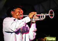Kermit Ruffins and his band playing at the Mirliton Festival in New Orleans in 2010.
