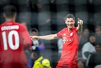 Robert Lewandowski of Bayern Munich celebrates scoring a goal making it 7-2 during the UEFA Champions League group match between Tottenham Hotspur and Bayern Munich at Wembley Stadium, London, England on 1 October 2019. Photo by Andy Rowland.