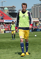 April 27, 2013: New York Red Bulls midfielder Eric Alexander #12 in action during the warm-up in a game between Toronto FC and the New York Red Bulls at BMO Field  in Toronto, Ontario Canada..The New York Red Bulls won 2-1.