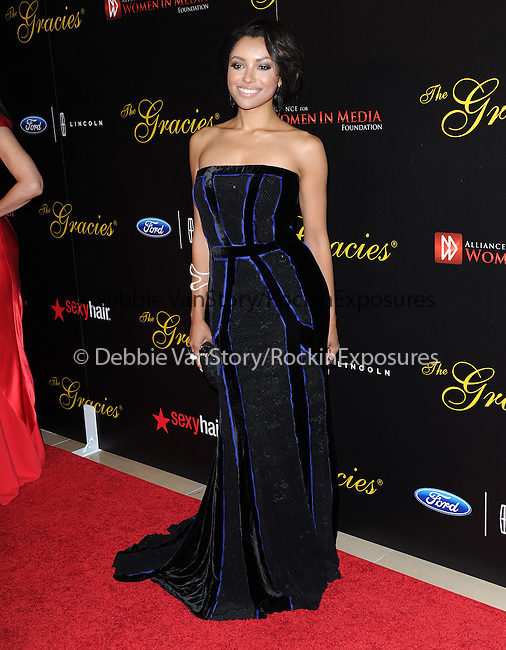 Kat Graham attends The Alliance for Women in Media Foundation's 39th Annual Gracie Awards, Honoring Exemplary Women in Media in Beverly Hills, California on May 20,2014                                                                               © 2014 Hollywood Press Agency